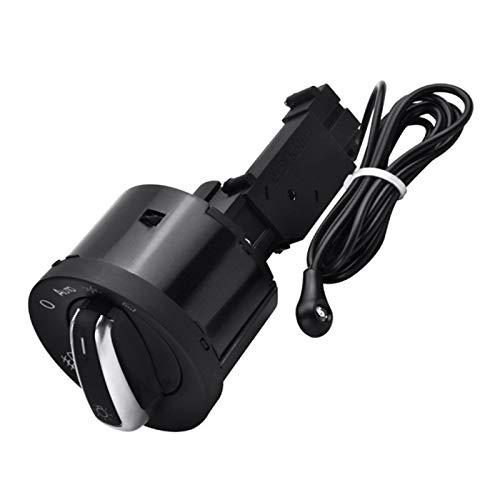 Acutty Interruptor de la luz del coche con la luz del sensor automático de cromo 5ND941431B para Golf 5 Tiguan Passat b6