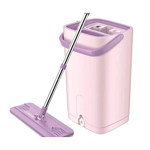 ZHAO XIN Cubeta rectángulo, multifunción Creativo Lavado de Manos Libre del hogar Baño Cocina Limpieza del Piso Fregona Cubo Guardar Tiempo púrpura (Color : Purple, Size : Mop Head*2)