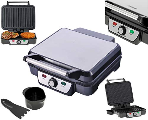 Kontaktgrill | 2.500 Watt | Elektrischer Tischgrill | Elektrischer Grill | Paninigrill | Sandwichtoaster | Sandwichmaker | Cool-Touch-Technologie | Fettauffangschale