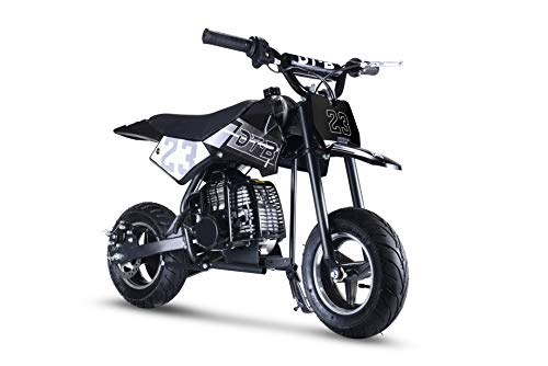 Hoverheart Mini Gas Power Dirt Bike, Motorcycle Ride-on 51cc 2 Stroke (Oil Mix Required) (Black)