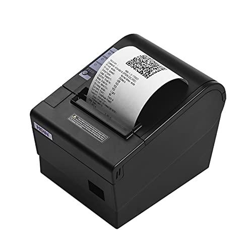 Fesjoy Impresora de Recibos, Impresora de Recibos térmica de 80 mm con Cortador automático. Interfaz Ethernet USB. Impresión de facturas. Compatible con los comandos de impresión ESC/POS para