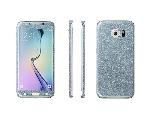 Luch Samsung Galaxy S7, S7 Edge, S8, S8 Plus Glitterfolie Skin Diamond Shine Sticker plakfolie beschermfolie voor de voor- en achterkant, Samsung Galaxy S7, zilver