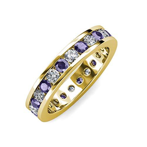 Diamond Iolite Jewelry Set - 7