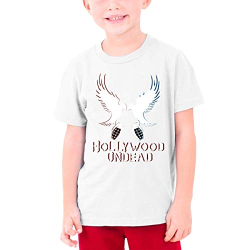 Jugend Jugen Männer Hollywood-Undead Logo Bekleidung T-Shirt Kurzärmlig White L Tee T Shirt Rundhalsausschnitt Tshirt Für Teens