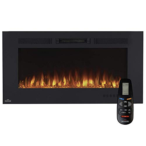 Napoleon Premium Fire - Allure Phantom Series (42) - Elektrokamin, Kamin elektrisch, elektrischer Wandkamin, kaminofen Elektro, 3D LED Flamme & inkl. Fernbedienung - schwarz
