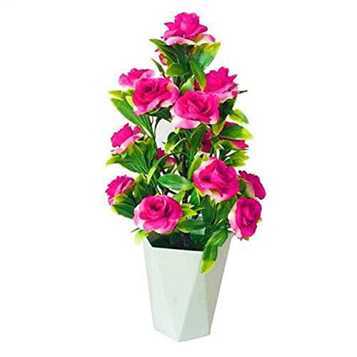 QWSNED - Vaso per fiori artificiali, colore vivace, decorazione per mobili da giardino e feste