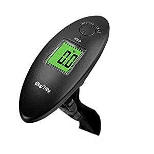 Luggage Scale,Portable Travel Handheld Scale,40kg/100g 88Lb Digital Electronic Weighing Luggage Suitcase Bag Scale - Black