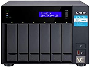 QNAP TVs-672N-i3-4G-US 8 Bay NAS with 5GbE, Intel Core i3, Dual Pci-E and Dual M.2 Slots, 4GB DDR4 Memory, USB Type-C Ports, Supports SSD Cache
