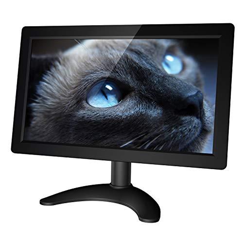 kuman 10.1 Zoll Monitor IPS Bildschirm HDMI Portable Display mit AV/VGA/HDMI/Audio Ports Lautsprecher Eingebaut für Raspberry pi 4 Haus Sicherheit Kamera PC Monitor