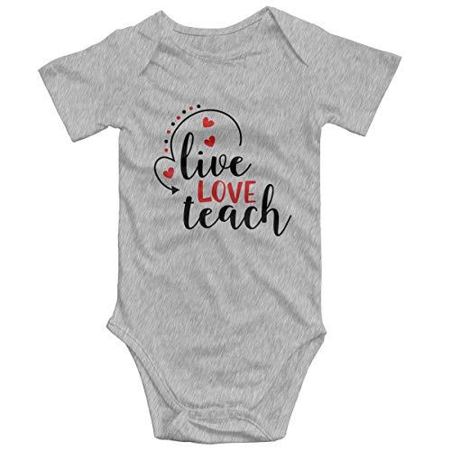 Promini Live Love Teach ZI3157 - Mono de manga corta para bebé, de 0 a 3 meses, de algodón