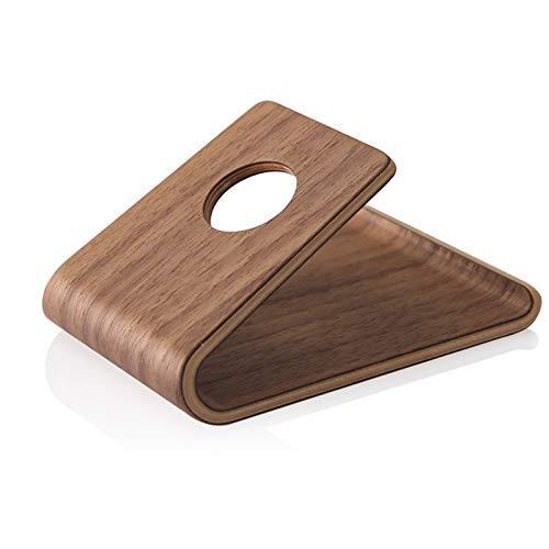 Isunday houten mobiele telefoon standaard universele houder klem voor smartphone tablet mobiele telefoon