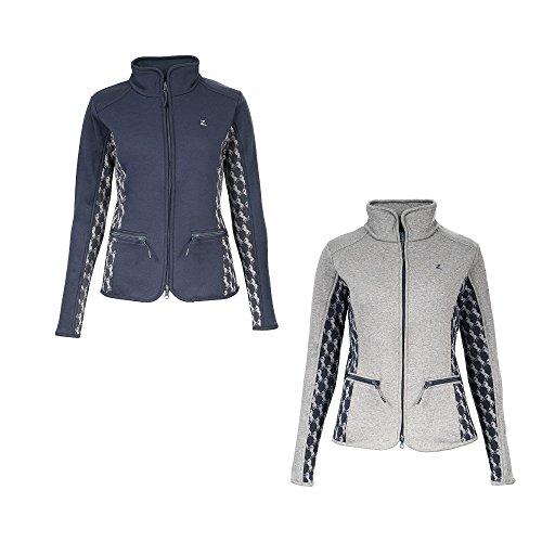 NETPROSHOP Modieuze dames sweatshirt jas met fleece voering, 38 EU, blauw