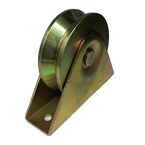 "4"" Double ball bearing with Bracket groove wheel V-Groove Gate Wheel for Sliding Gates 4 inches Compatible with most V Track Manufacturer our is mounted on ball bearing no maintenance needed"