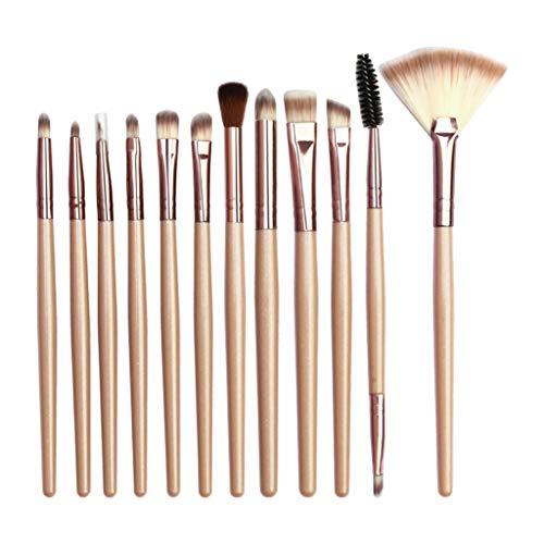 holitie 12pcs maquillage ombre à paupières pinceau pinceau de maquillage surligneur
