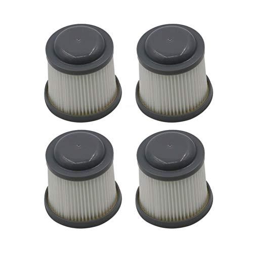 CAOQAO Stanley Black & Decker Filtre 4 Pcs,pour pour Black & Decker VF100 VF100H PVF110 PHV1210 PHV1810,Nouveau Kit D'Accessoires De Remplacement,Accessoires D'Aspirateur,Rechange Filtres