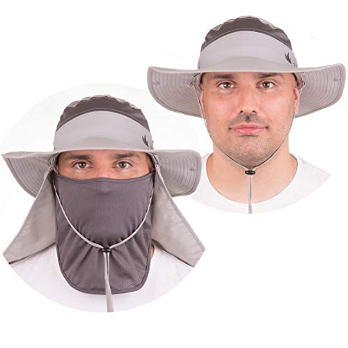 The Friendly Swede Chapeau de Pêche Safari - Lot de 2 - pour Activités de Plein Air avec Bande Respirante en Filet (Gris)