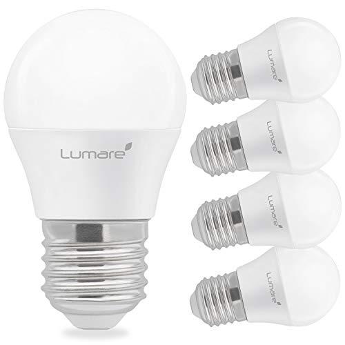 Lumare E27 LED Lampe 5W ersetzt 40 Watt warmweiß 5er-Pack G45 Glühbirne 425 Lumen Energiesparlampe 200° LED Birne 5 Watt Leuchtmittel Glühbirne 2700K