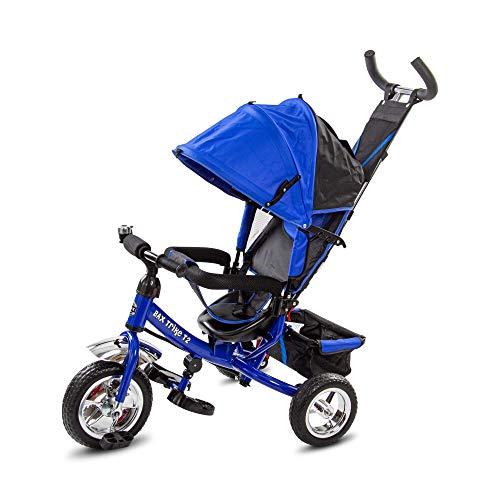 BAX Dreirad Trike T2 mit Schiebe- und Lenkstange Kinderdreirad Sonnendach Baby