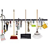 NZACE Adjustable Storage System 64 Inch, Wall Holders for Tools, Wall Mount Tool Organizer, Garage Organizer, Garden Tool Organizer, Garage Storage,Heavy Duty Tools Hanger with 4 Rails 16 Hooks