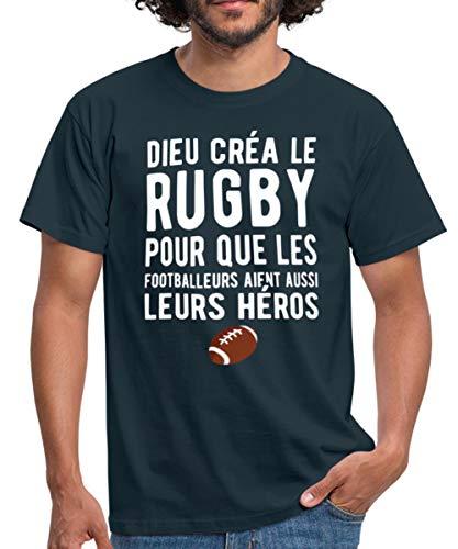Dieu Créa Le Rugby T-Shirt Homme, 3XL, Marine