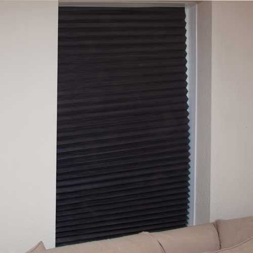 Blinds in a Box set of 3 black blinds. Instant Blackout Blinds that require no fixings
