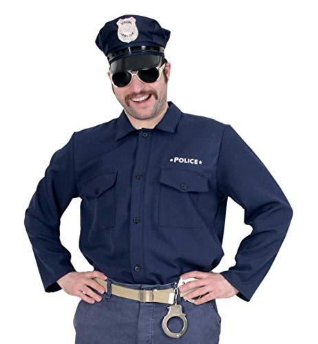 KarnevalsTeufel Herrenkostüm Polizist Hemd in dunkelblau (XXL)
