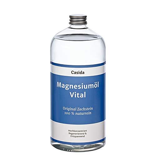 Magnesiumöl Vital 1000ml / 1 Liter - Original Zechstein Magnesium Öl aus der Apotheke - Ideal zum Nachfüllen von Magnesiumspray