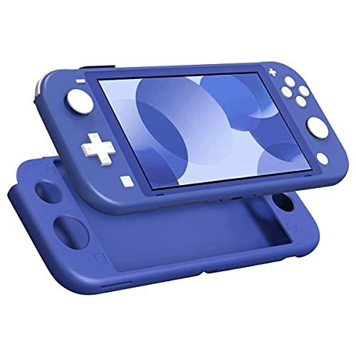 MoKo Custodia Protettiva Compatibile con Switch Lite, Case Protettiva in Silicone per Giochi Console, Custodia per Giochi Console, Cover Accessori per Console e Controller, Blu