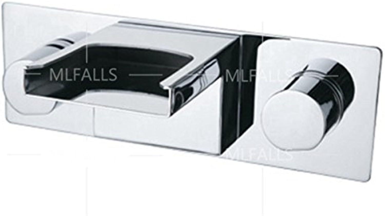 LaLF Europischer Wasserhahn Chrom Wandmontage Doppelgriff Wasserfall Outlet Warmes und kaltes Wasser Waschbecken Wasserhahn Waschbecken Wasserhahn