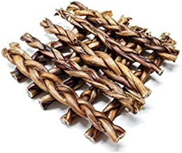 Dog Nip! Braided Bully Sticks Odor Free for Dogs or Puppies - Made in USA - All Natural & Odorless Bully Pizzle Bone - Grass Fed Organic Beef - Best Long Lasting Dog Chew Dental Treats