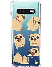 Oihxse Transparente Funda para Samsung Galaxy A10E Ultrafina Silicona Suave TPU Carcasa Interesante Perro Patrón Flexible Protectora Estuche Antigolpes Anti-Choque (A1)