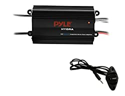 in budget affordable Pyle Auto 4-Channel Marine Amplifier – 200 W RMS, 4 ohms, full-range stereo system with wireless…