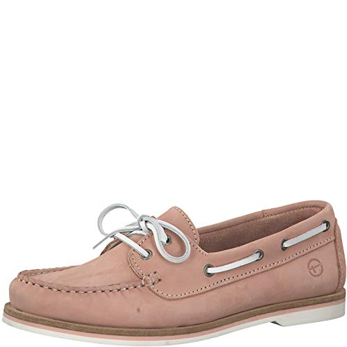 Tamaris Damen SlipperMokassins 23616-24, Frauen Slipper, Lady Ladies feminin elegant Women's Woman Freizeit leger,Light PINK,39 EU / 5.5 UK