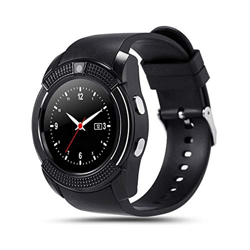 generic Smart Watch with SIM Card Support Compatible with All Mobile Phones for Boys and Girls -Black
