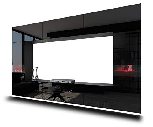 HomeDirectLTD Future 29, Conjunto de Muebles De Salón, Módulo Bajo para TV Y Multimedia, Unidad de Entretenimiento, Mueble TV, Suite a Estrenar (Iluminación RGB LED Opcional) (29_HG_B_1, Blanco LED)