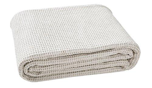 Blanc des Vosges Electre Dessus de lit Coton Ficelle 240 x 260 cm