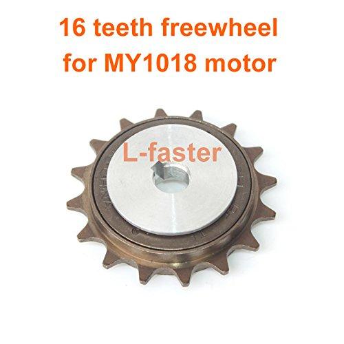 Rueda de cadena de bici bicicleta habló la rueda trasera 32t piñón para nuestra izquierda drive motor kit 16t rueda libre con adaptador para motor my1016z (16T motor freewheel)