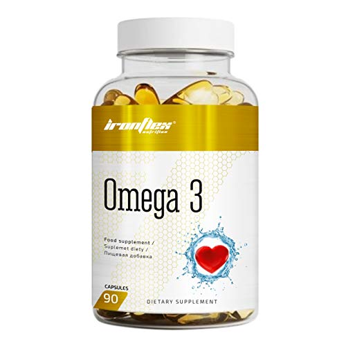 IronFlex Omega 3 Package of 1 x 90 Capsules - Eicosapentaenoic Acid and Docosahexaenoic Acid – Fish Oil