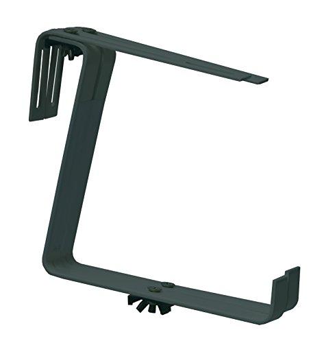 Windhager Blumenkasten-Halter für Bürstungen und Balkongeländer, 1-fach verstellbar, Tragkraft 25 kg, Anthrazit 15 x 15 cm, 05823