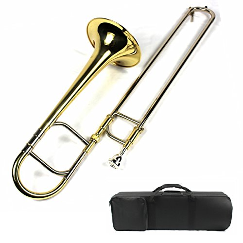 Brand New Eb Alto Trombone w/Case and Mouthpiece- Gold Lacquer Finish