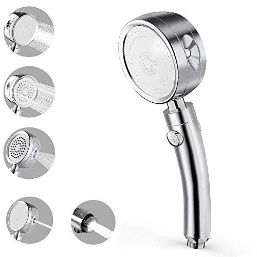 Duschkopf,5 Strahlarten Duschkopf Handbrause, Hochdruck Handheld Hochdruck, mit Stopp Taste Regendusche Wassersparend Brausekopf