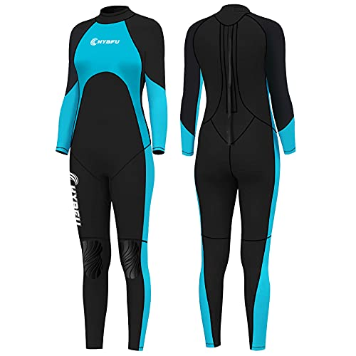 CHYBFU Wetsuit Women, 3mm Silicone Nylon Fabric Wetsuits Diving Suits, Wet Suits for Women Cold Water Surfing Wetsuit, Various Sizes Wetsuit for Diving Surfing Snorkeling Kayaking Water Sports(XL)