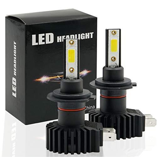Lampadine LED H7,fari abbaglianti anabbaglianti per Auto Moto 60W 12000 Lumen Fari Impermeabili Super Bright 6500K IP65 12V Conversione Kit Sostituzione Lampade Alogena e Xenon