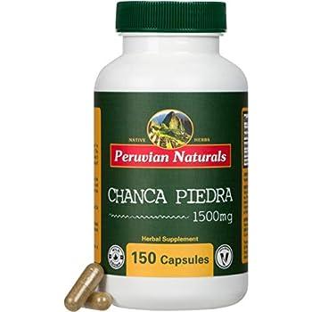 "Peruvian Naturals Chanca Piedra Capsules ""Stone Breaker"" – Kidney Stone Support Supplement - Pack of 150-1500mg Vegan Pills 100% Natural Chancapiedra Grown in Peru – Rock Crusher Dissolver Remover"
