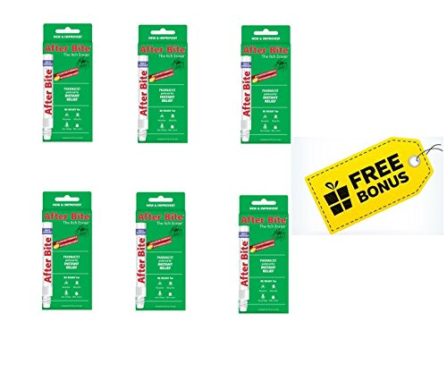 After Bite Advanced Formula with Baking Soda & Ammonia, Pharmacist Preferred Insect Bite & Sting Treatment, Skin Protectant, Portable Instant Relief, Stop Itching Applicator Pen, 0.5-Ounce (6 Pack)