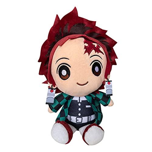 Anime Demon Slayer Plush Toys,8'/21cm Kimetsu no Yaiba Tanjiro Cute Soft Stuffed Plushie Toys Home Decor Best Gift (Kamado Tanjiro)