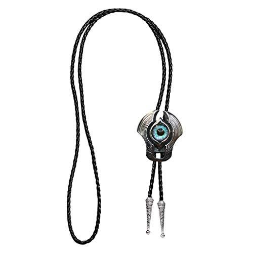 Baoblaze Evil Eye Bolo Tie Krawatte n Stahl Halskette Anhänger Für Männer, Frauen - Evil Eye, m