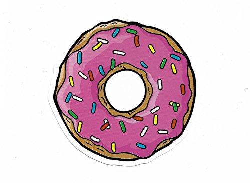 greestick Aufkleber Donut rosa by Sticker Bomb einzeln Vinyl Decal