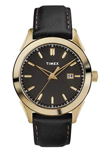 Timex Orologio Analogico Quarzo Uomo con Cinturino in Pelle TW2R90400