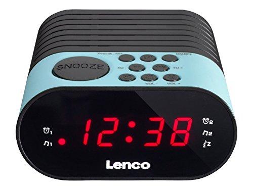 Lenco Uhrenradio CR-07 mit LED-Display, 2 Weckzeiten, Dual Alarm, Sleeptimer, Schlummerfunktion, in 3 Farben